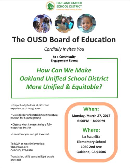 Board of Education munity Engagement Meeting