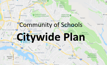 Community of Schools Citywide Plan over a map image