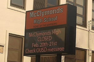 Sign at McClymonds
