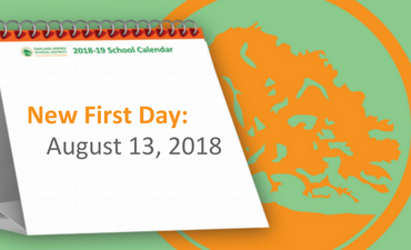 New First Day is August 13, 2018