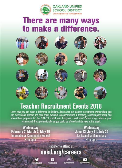 Talent division prospective employees teacher recruitment events malvernweather Gallery