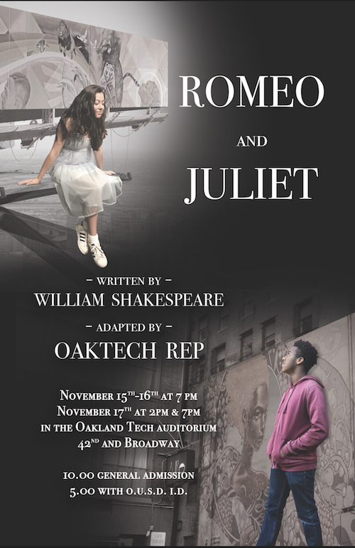Romeo & Juliet Oak Tech Rep Production Flyer