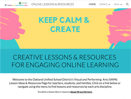 OUSD Create site with lessons and activities