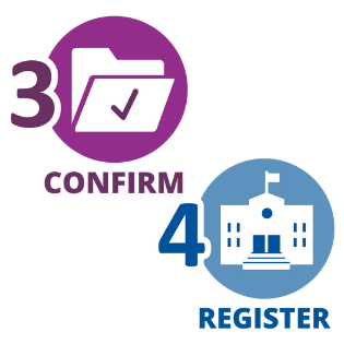 confirm and register