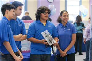 High School Students at Intel Showcase