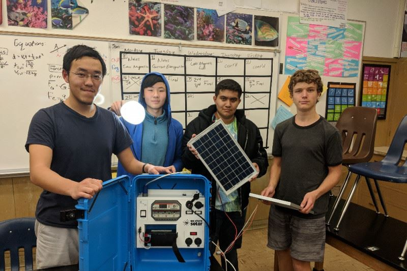 "Engineering Club Build ""Solar Suitcase"""