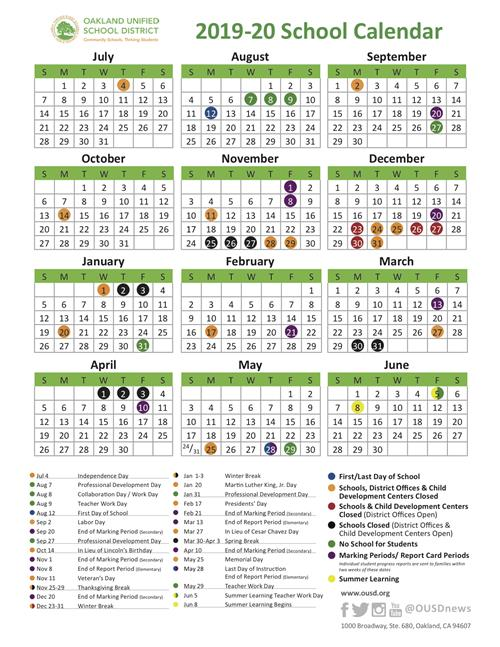 California State Pay Period Calendar For 2020 2019 2020 OUSD School Year Calendar Now Available