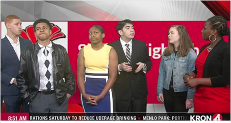 Drama Students Appear on Sunday Morning News Program