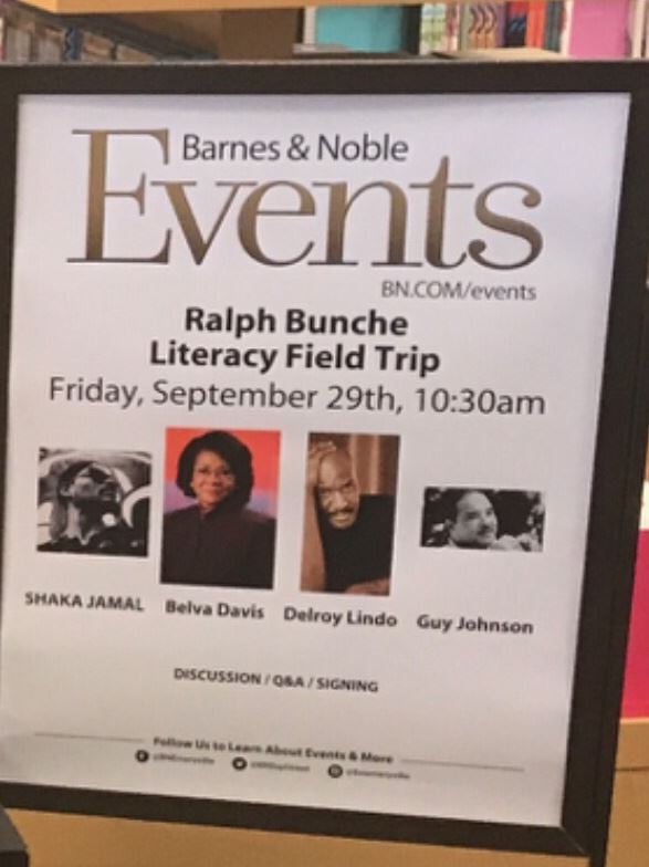 Step Into The Arena: Bunche's Barnes and Noble Literacy Takeover