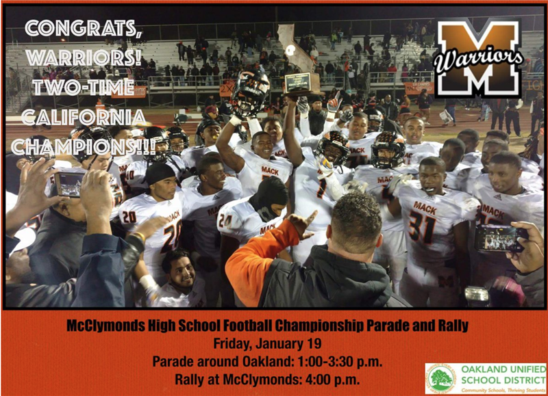 Celebrating the McClymonds High School Football Team