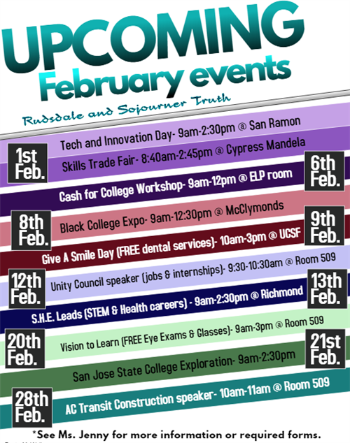 Upcoming February Events