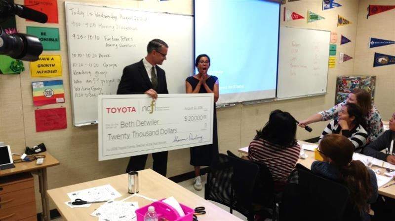 Adult Education Teacher Named Toyota Teacher of the Year