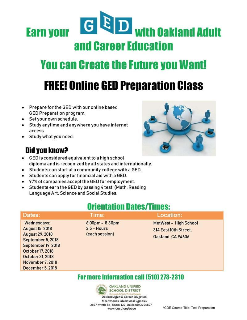 Get Your Ged Online >> Online Ged Preparation Class