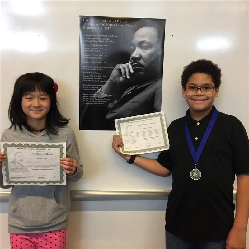 Bella Vista Students Compete in the 38th OUSD Oratorical