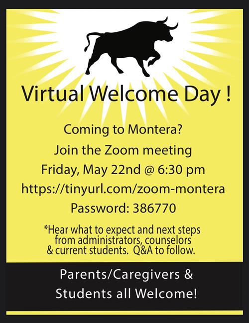 Virtual Welcome Day