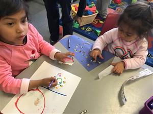 Children at the weekly play group