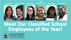 Classified School Employees of the Year