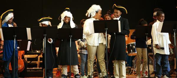 Sankofa Students Present Hamilton the play.