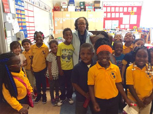 Ms. Hayden and her students.
