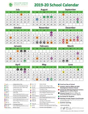 California School Calendar 2020 School Year Calendar / 2019 20 School Year Calendar