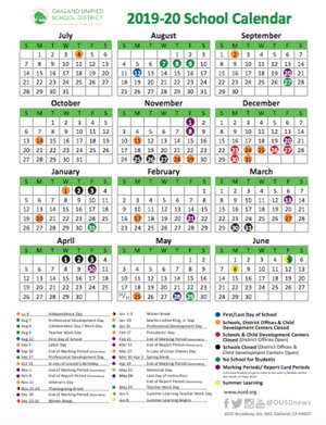 Calendario Kinder 2020.School Year Calendar 2019 20 School Year Calendar