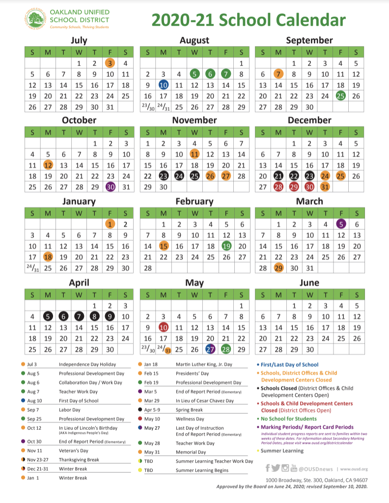 District 200 Calendar 2021-2022 Pictures