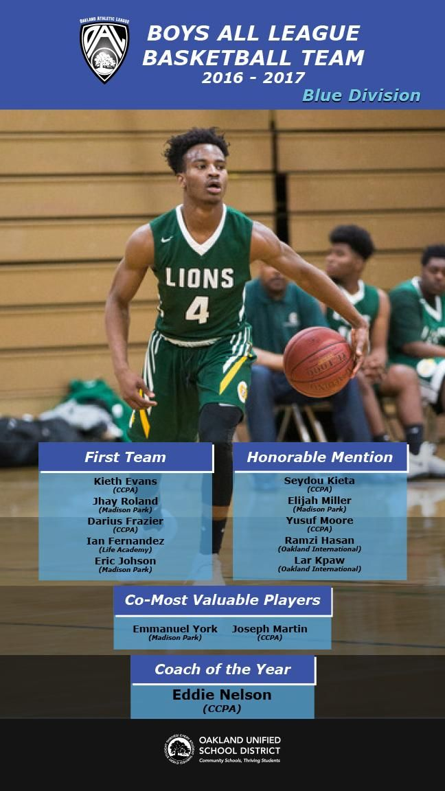 men's blue division basketball all league