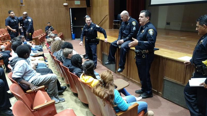 OPD Officers Talk with Students