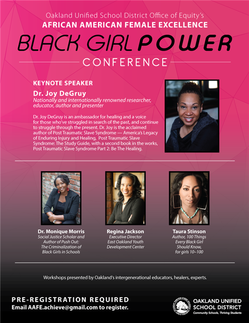 Black Girl Power Keynote Speaker - Dr. Joy DeGruy