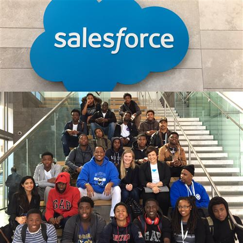 Students at Salesforce