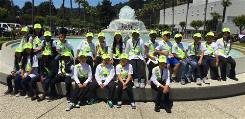 Safety Patrol at Water Fountain