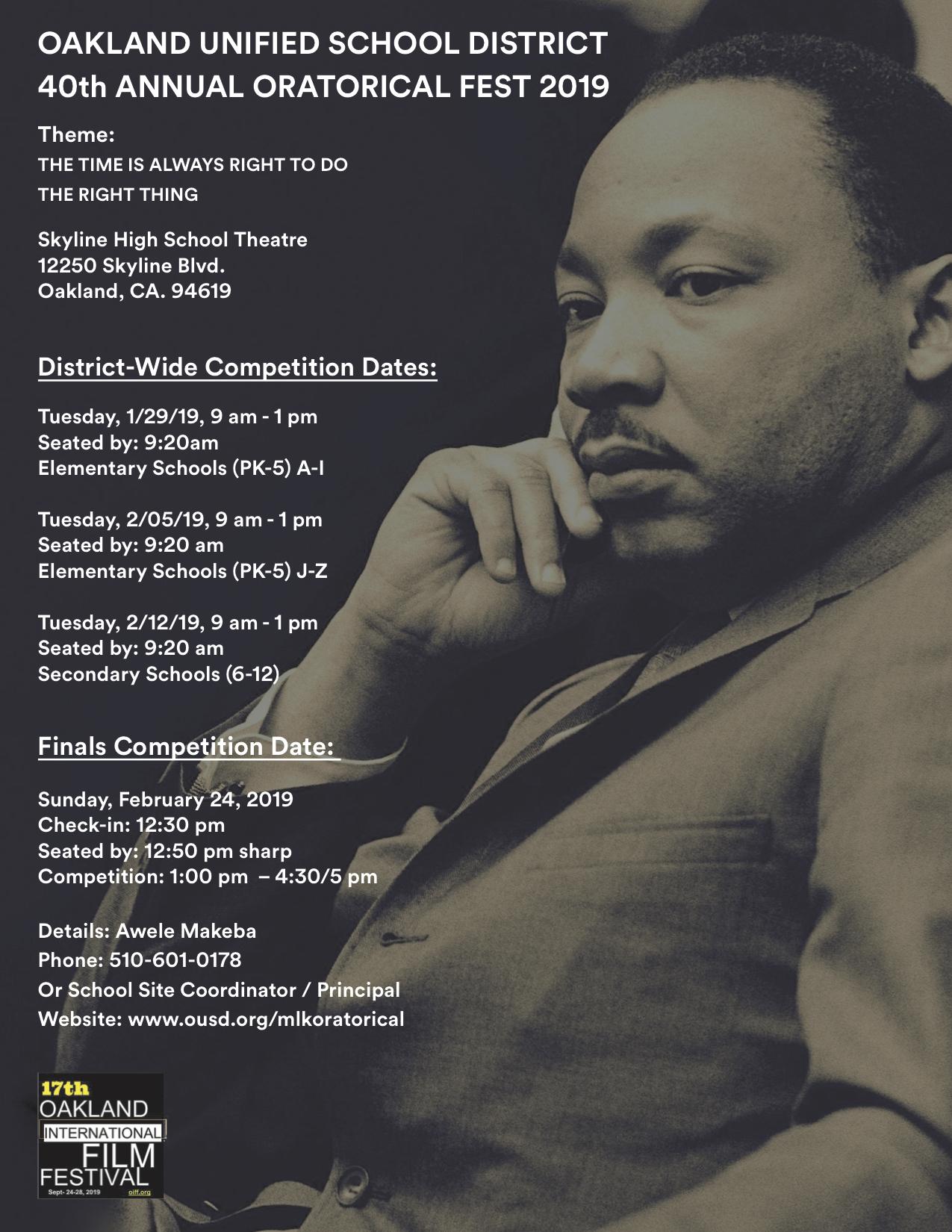OUSD MLK Oratorical / 40th Annual MLK Oratorical