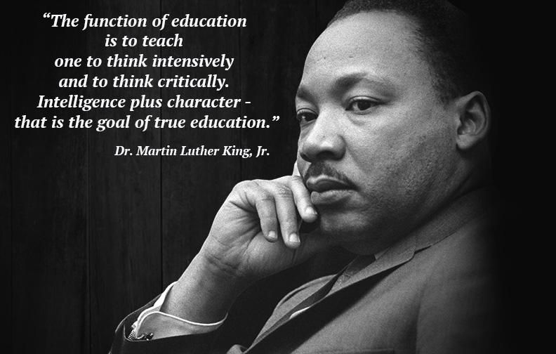 Dr. King on Education