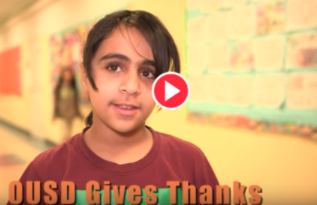 OUSD Gives Thanks