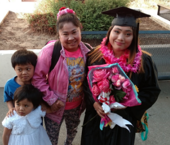 OIHS graduate Lay Wah and some of her family who escaped persecution in Burma.
