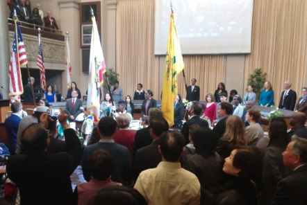 Swearing in ceremony at City Hall