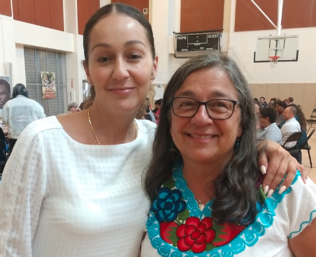 New Oakland SOL Principal, Amapola and her mother, former MLA Principal Moyra