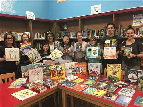 Athenian School students donate books!