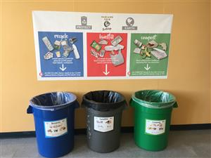 Green Gloves Signage and Bins