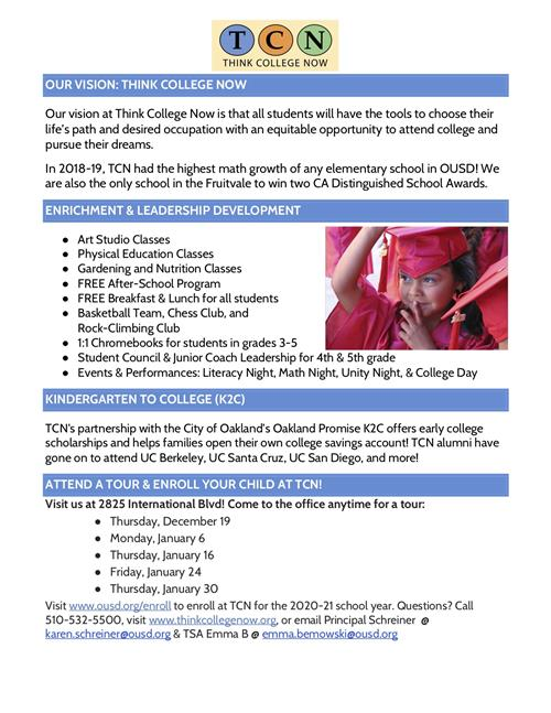 TCN Enrollment Flyer