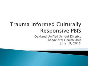 Trauma Informed CR PBIS