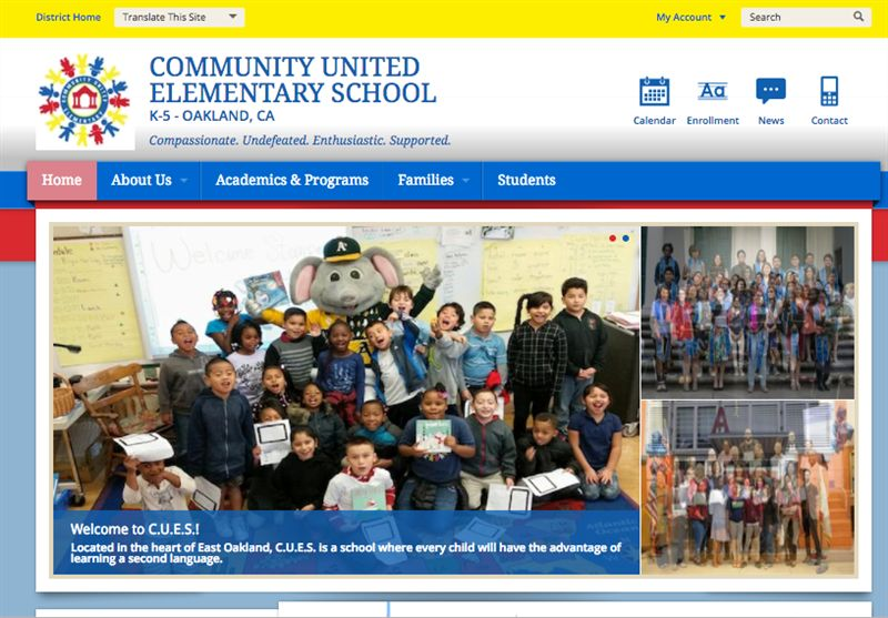 C.U.E.S. Launches New School Website