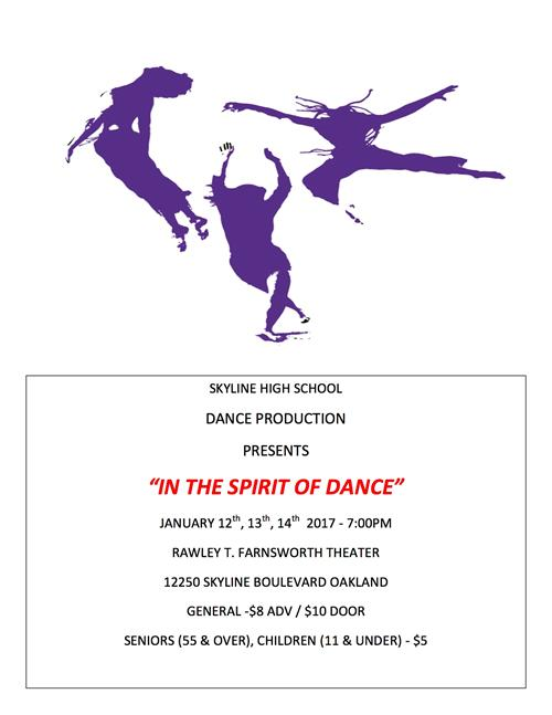 Dance Production flyer