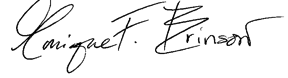 Monique Brinson Signature