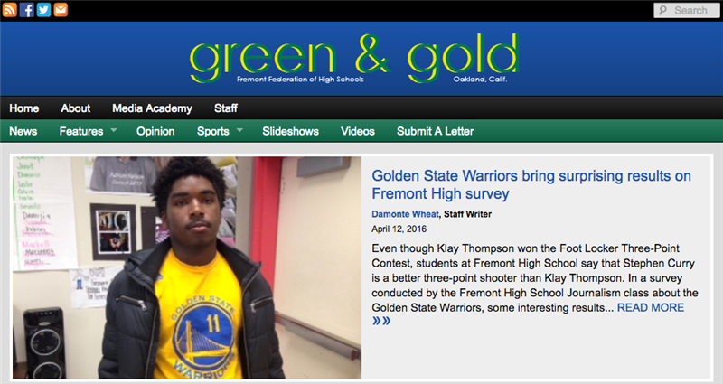 Click to Read Green & Gold News!