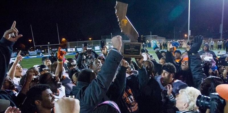 Picture: Mack Celebrate the Victory with the CIF Trophy