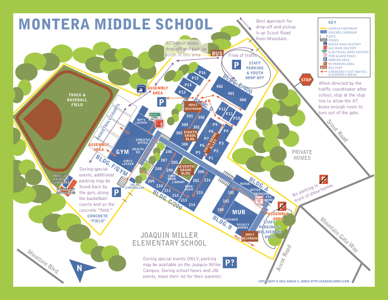 Montera Middle School Map