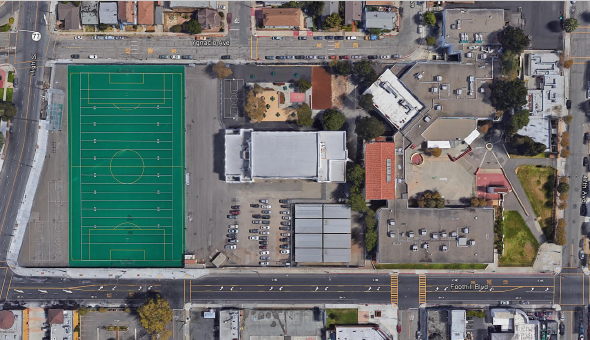 Aerial View of Fremont High School